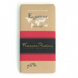 Tablette Equateur bio 75%